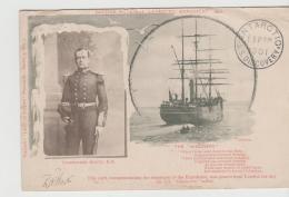 GBV240 / ANTARKTIK Expedition 31.7. 1901. Karte Nr.1  Mit Bild Und Unterschrift  (signature) Von Scott (Tag Der Abreise) - Britisches Antarktis-Territorium  (BAT)