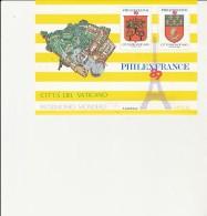 VATICAN -  BLOC PHILEXFRANCE COMPOSE DE 2 VIGNETTES  -1989  TB - Nuovi