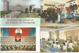 Corea Del Nord, Pyongyang 1972, Le Palais Des Elèves Et Des Enfants, Cofanetto Con 12 Cartoline Differenti. - Corea Del Nord