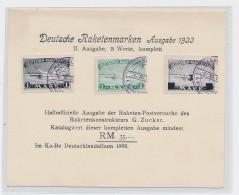 DR.-Raketenpost 1933   Selten ... ( Be8243  ) Siehe Scan  ! - Airmail