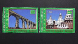 UNO-Wien 317/8 **/mnh, UNESCO-Welterbe: Spanien: Aquädukt Von Segovia, Park Güell, Palais Güell Und Casa Milá In Barcelo - Wien - Internationales Zentrum