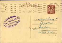 85 - LA ROCHE-SUR-YON - Entier Postal De 1941 - Entiers Postaux