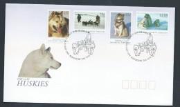 Australian Antarctic Territory 1994 Huskies Set FDC Official Unaddressed Australian Cds - FDC