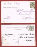 2 Postkaarten 1 C. Gestempeld Anvers Place St Jean  En Pl De L'Aurore - Postmark Collection