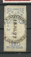 FRANKREICH France O 1877 Timbre Fiscal Revenue Tax Steuermarke - Fiscaux