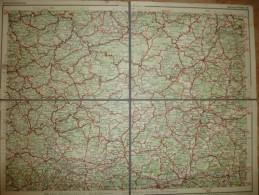 Deutschland - Dunlop-Strassenkarte 52 Marburg Wetzlar - 39cm X 30cm Auf Leinen Gezogen - Verlagsanstalt Und Druckerei Lu - Strassenkarten