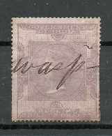 INDIA Old Revenue Tax Stamp 1 Anna O - Dienstzegels