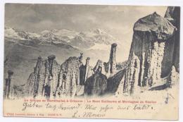 Orbanne / PONTIS Près Savines Le Lac, Un Groupe De Demoiselles, Le Mont Guillaume Et Mgne De Réallon - 1904 - Dos Simple - France