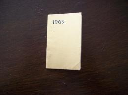 Calendrier De 1969- Publicité Stylos Van Moe- Rouen - Petit Format : 1961-70