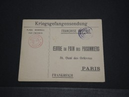 """FRANCE - Env D'un Soldat En Franchise Postale Pour La France """"Oeuvre Du Pain Des Prisonniers - 14/18 - P18634"""