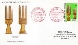 ARCHIPEL COMORES - FDC Artisanat Peignes - 10.05.1974 - COMOROS - KOMOREN - RARE - Lettres & Documents