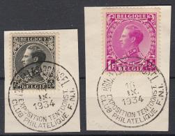 BELGIË - OBP - 1934 - Nr 390+392 - (EXPOSITIE) - Marcophilie