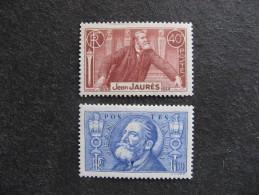 B). TB Paire N° 318 Et 319, Neufs XX. - France