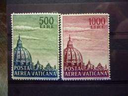VATICAAN LUCHTPOST 33/34 Xx ( YVERT ) COTE : 17 EURO ( B ) - Poste Aérienne
