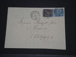 FRANCE - Env Pour La Belgique - Avril 1884 - P18644 - 1876-1898 Sage (Type II)