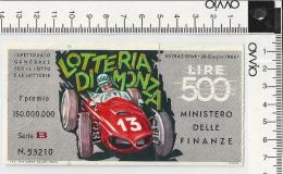 1964 -LOTTERIA DI MONZA - - Lottery Tickets