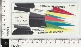 1977 -LOTTERIA DI MONZA - - Lottery Tickets