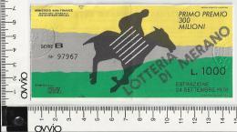 1978 -LOTTERIA DI  MERANO- - Lottery Tickets