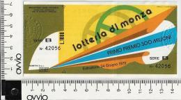 1979 -LOTTERIA DI MONZA - - Lottery Tickets