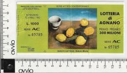 1980 - LOTTERIA DI AGNANO - - Biglietti Della Lotteria