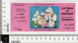 1980 - LOTTERIA DI  MERANO - - Lottery Tickets