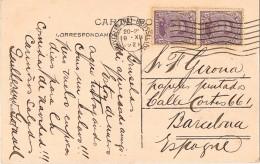 18077. Postal BRUXELLES (Belgien) 1921. Gare Nord Et Place Rogier - Bélgica