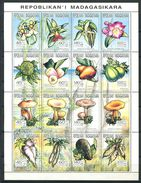 164 MADAGASCAR 1993 - Champignon Fleur Legume (Yvert 1301/16) Neuf ** (MNH) Sans Trace De Charniere - Madagascar (1960-...)