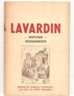"""Lavardin Histoire Monument Document Touristique édité Par Le Syndicat Inititive """"Au Pays De Ronsard"""" Des Années 1950 - Centre - Val De Loire"""