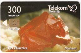 SLOVENIA SLOVENIJA PHONECARD 2007 CINABARIT CINNABAR   MINERALI MINERALS  TELEKOM CAT.NO.718 - Slovenia