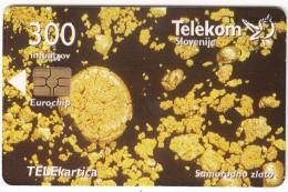 SLOVENIA SLOVENIJA PHONECARD 2007 SMARAGDNO ZLATO NATIVE GOLD MINERALI MINERALS  TELEKOM CAT.NO.713 - Slovenia