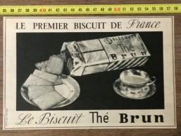 PUBLICITE 1953  BISCUIT THE BRUN - Vieux Papiers