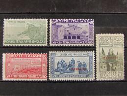 """ITALIA Somalia-1926- """"San Francesco"""" Cpl. 5 Val. MH* (descrizione) - Somalia"""