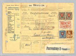 Schweiz 1929-06-14 Paketbegleitadresse Porrentruy Nach Lima Fr.9.60 - Suisse
