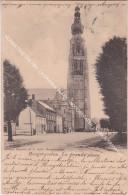 HOOGSTRAETEN 1901  LA GRANDE PLACE / HOOGSTRATEN - KERK & TRAMWAY - Hoogstraten