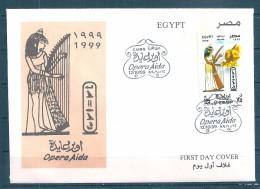 Egypte - 1999 - Enveloppe 1e Jour - Représentation De L'Opéra Aïda - Y&T AM#285 - Égypte