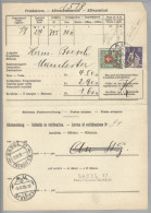 Schweiz 1926-04-03 Au Frankaturborderau Paket N.Manchester Fr.4.50-2.90=1.60 - Suisse