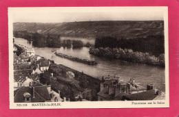 78 YVELINES MANTES-LA-JOLIE, Panorama Sur La Seine, Convoi De Péniches, Remorqueur,   (CAP) - Mantes La Jolie