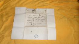 LETTRE ANCIENNE DE 1826. /DEPART ?. A GRENOBLE. / MARQUE LE PEAGE + TAXE. + CACHET DATE - 1801-1848: Precursors XIX