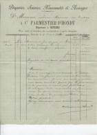 FACTURE - DRAPERIES SOIERIES NOUVEAUTES ET AUNAGES - CT PARMENTIER-D'HONDT - ROULERS - 1906 - Kleding & Textiel