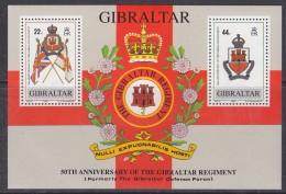 Gibraltar 1989 Regiment M/s ** Mnh (30082) - Gibilterra