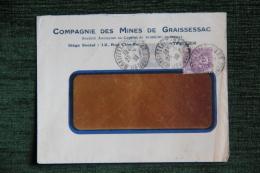 Enveloppe Timbrée Publicitaire ,Compagnie Des Mines De GRAISSESSAC - Ohne Zuordnung
