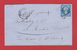 Lettre De Frétigney      --  Pour La Rochère   --  31 Janv 1862  --  Boite Rurale A - Marcophilie (Lettres)