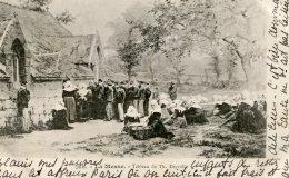 FRANCE -  Le Messe - Tableau De Th. Deyroll   1901- Vignette -  Good Postmarks Etc - Ethnic Costumes Etc - Bretagne