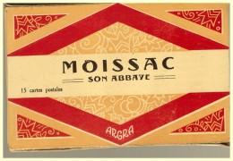 13 Cartes  CARNET DE CARTES POSTALES MOISSAC SON ABBAYE - Moissac