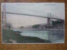17 - Tonnay Charente : Le Pont Suspendu Et Le Quai Jacob - France