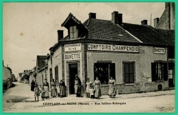 Conflans Sur Seine - Marne - Rue Isidor Robequin - Comptoir Champenois - Succursale N° 40 - Animée - Epernay