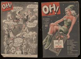 Oh! N°3 Noël 1948  Revue Légère Ancienne Bd Nus Humoristiques Nouvelles Frédéric Dard Etc Port Fr Métr  2,72€ - Livres, BD, Revues