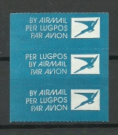 Süd-Afrika Air Mail Labels Original Gum MNH - Poste Aérienne