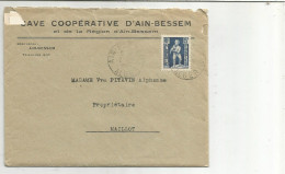 ALGERIE LETTRE A EN TETE DE AÏN BESSEM DU 2/7/1953 - Algerije (1924-1962)