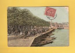 * CPA..dépt 80..AMIENS  :  Un Coin Du Marché Sur L' Eau..n°398   :  Voir Les 2 Scans - Amiens